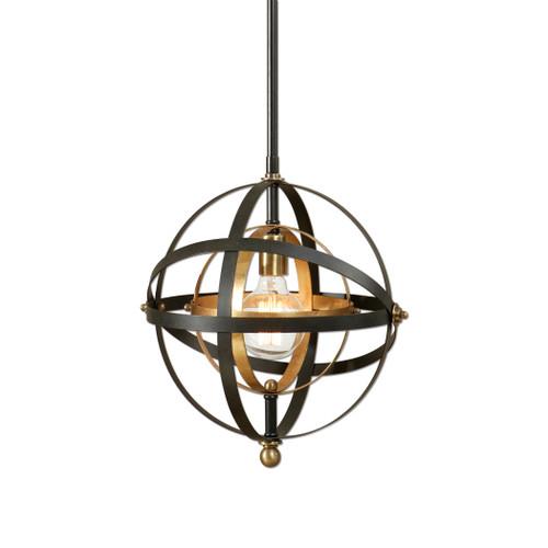 Uttermost Rondure 1 Light Sphere Mini Pendant by Carolyn Kinder