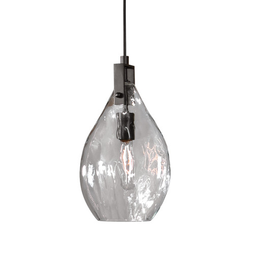 Uttermost Campester 1 Light Watered Glass Mini Pendant by Carolyn Kinder