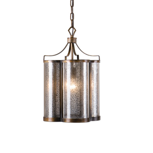 Uttermost Croydon 1 Light Mercury Glass Pendant by Carolyn Kinder