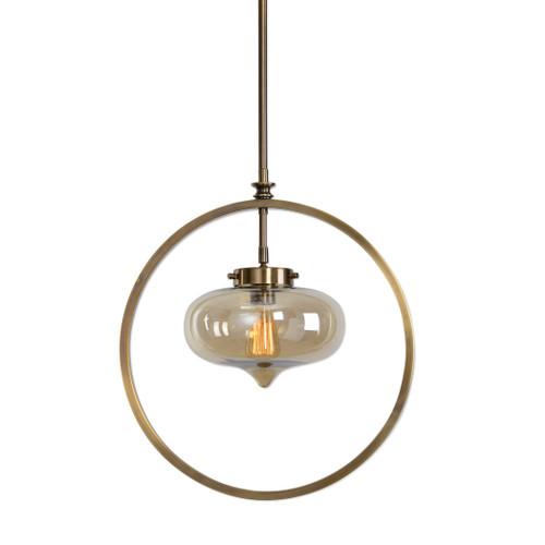 Uttermost Namura 1 Light Brass Mini Pendant by Matthew Williams