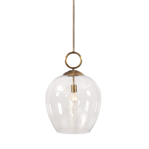 Uttermost Calix Large Blown Glass 1 Light Pendant by Kalizma Home