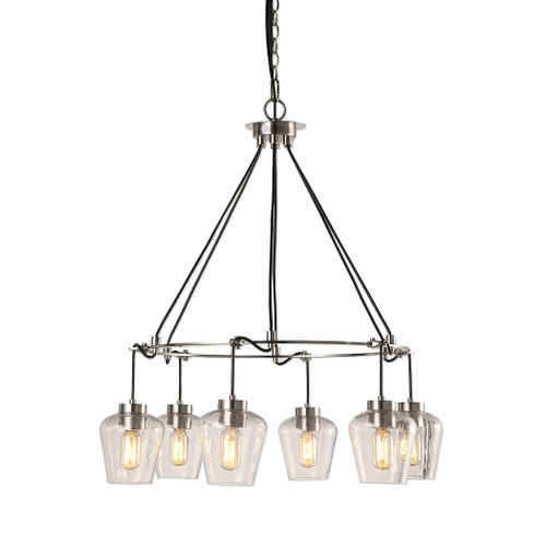 Uttermost Akron Nickel 6 Light Pendant by Kalizma Home