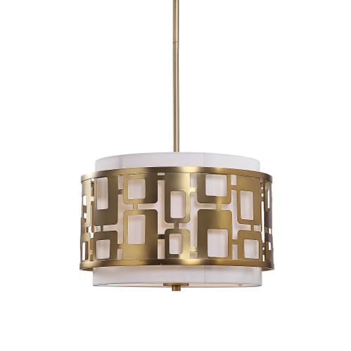 Uttermost Vecta 3 Light Brass Pendant by Kalizma Home