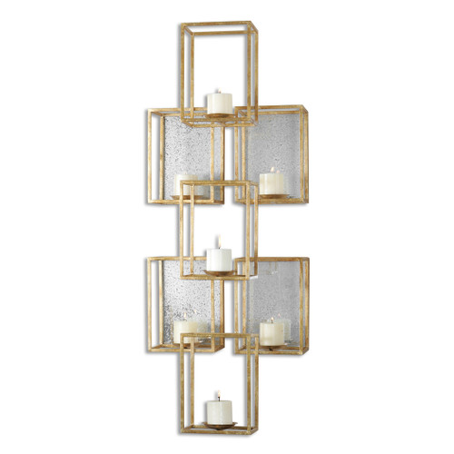 Uttermost Ronana Mirrored Wall Sconce by Carolyn Kinder