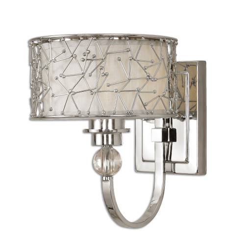 Uttermost Brandon 1 Light Nickel Plated Wall Sconce by Carolyn Kinder