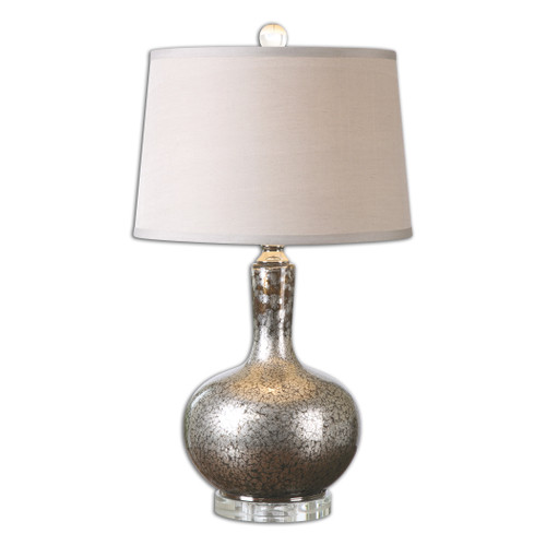 Uttermost Aemilius Gray Glass Table Lamp by David Frisch