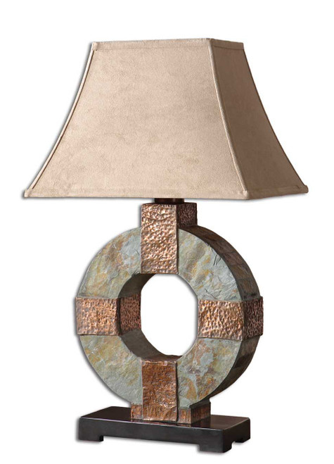 Uttermost Slate Table Lamp by Carolyn Kinder