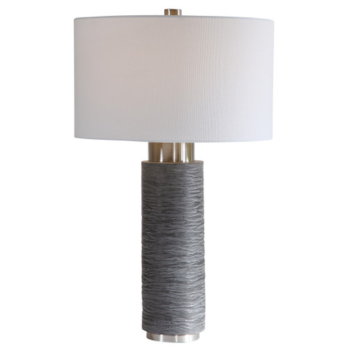 Uttermost Strathmore Stone Gray Table Lamp by David Frisch