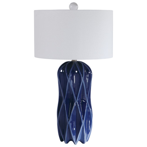 Uttermost Malena Blue Table Lamp by Renee Wightman