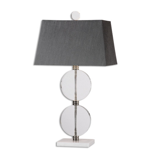 Uttermost Telesino Crystal Disk Table Lamp by Matthew Williams