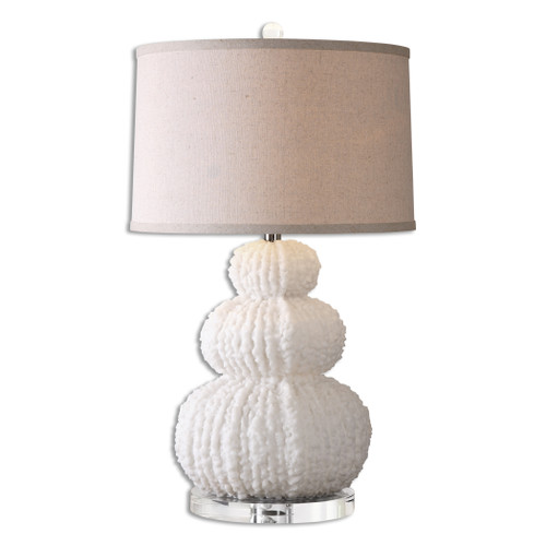 Uttermost Fontanne Shell Ivory Table Lamp by David Frisch