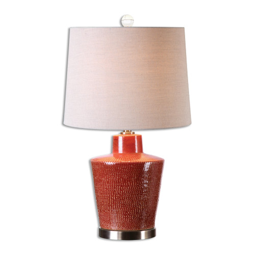 Uttermost Cornell Brick Red Table Lamp by David Frisch