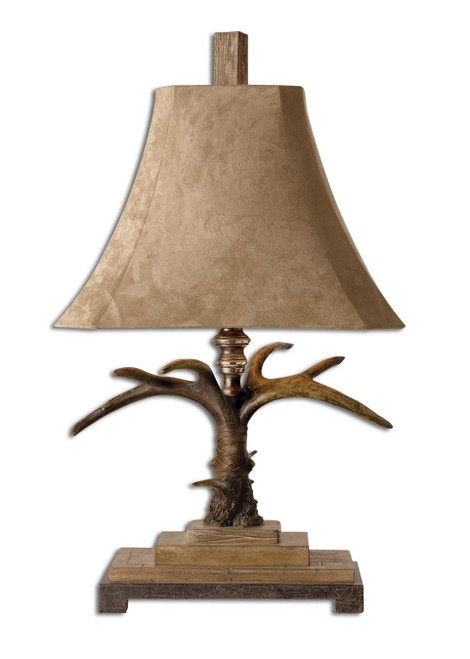 Uttermost Stag Horn Table Lamp by Carolyn Kinder
