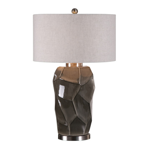 Uttermost Crayton Crackled Gray Table Lamp by Jim Parsons