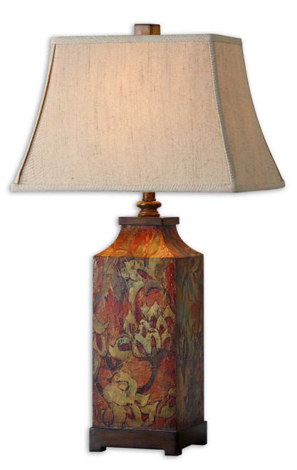 Uttermost Colorful Flowers Table Lamp by Grace Feyock