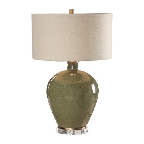Uttermost Elva Emerald Table Lamp by Jim Parsons