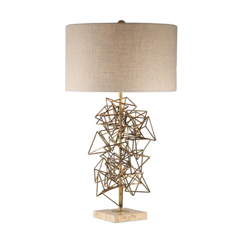 Uttermost Vasaya Abstract Gold Table Lamp by Jim Parsons