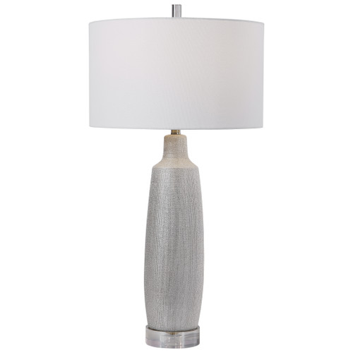 Uttermost Kathleen Metallic Silver Table Lamp by Matthew Williams