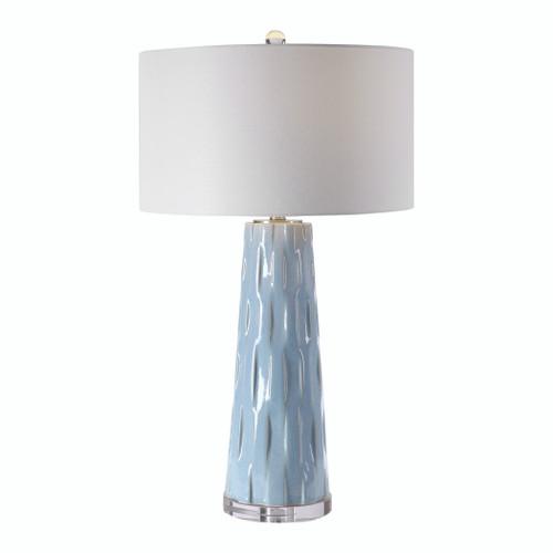 Uttermost Brienne Light Blue Table Lamp by Jim Parsons
