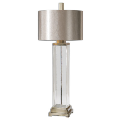 Uttermost Drustan Clear Glass Table Lamp by Carolyn Kinder