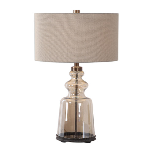Uttermost Irving Amber Glass Table Lamp by Matthew Williams