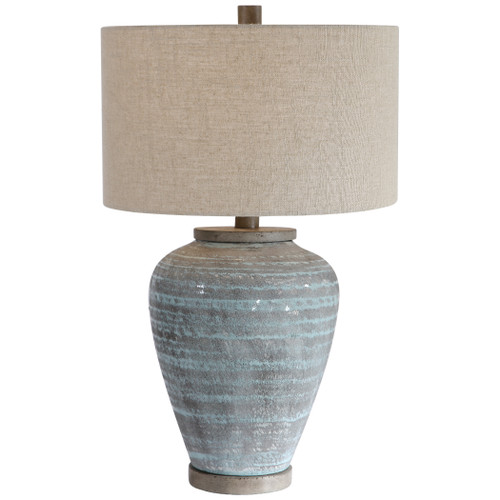 Uttermost Pelia Light Aqua Table Lamp by John Kowalski