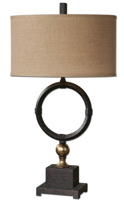 Uttermost Pueblo Black Circle Table Lamp by Carolyn Kinder