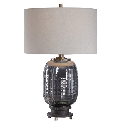 Uttermost Caswell Amber Glass Table Lamp by Matthew Williams