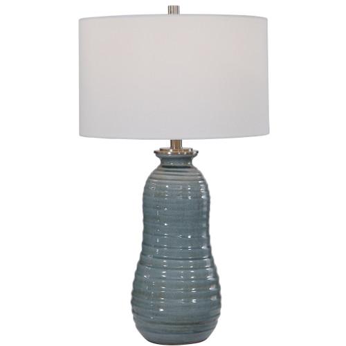 Uttermost Zaila Light Blue Table Lamp by Jim Parsons