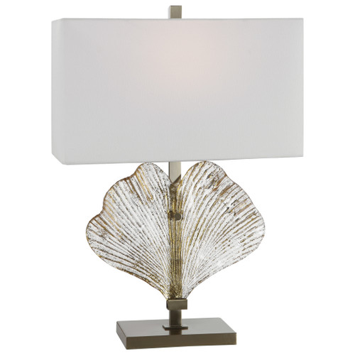 Uttermost Anara Glass Leaf Table Lamp by Jim Parsons