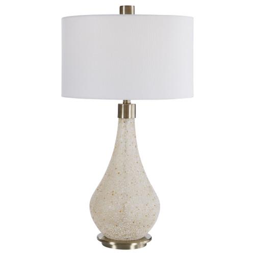 Uttermost Chaya Textured Cream Table Lamp by David Frisch