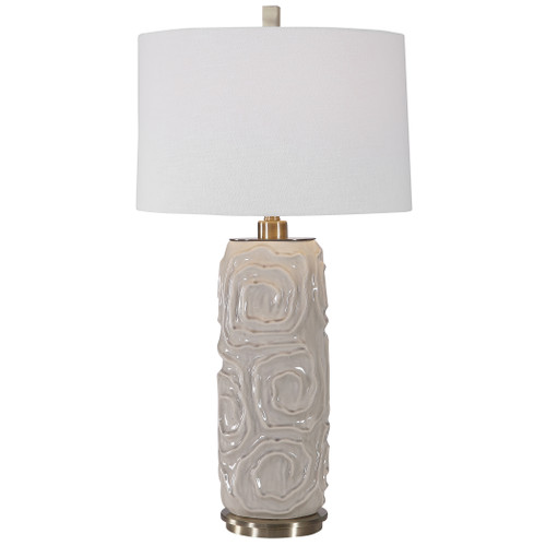 Uttermost Zade Warm Gray Table Lamp by David Frisch