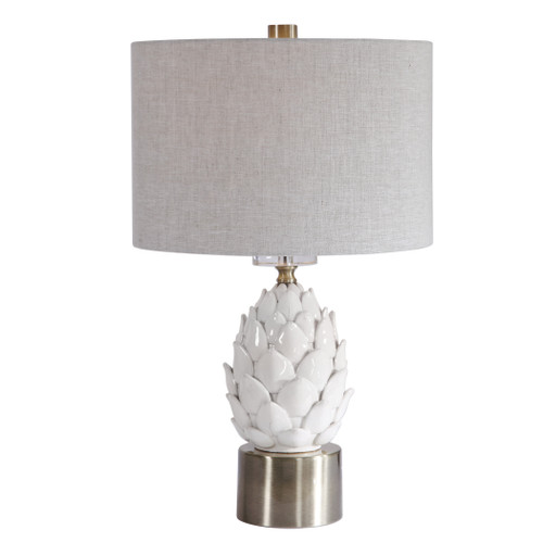 Uttermost White Artichoke Table Lamp by David Frisch