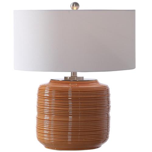 Uttermost Solene Orange Table Lamp by Jim Parsons