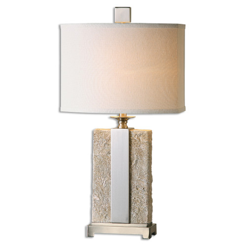 Uttermost Bonea Stone Ivory Table Lamp by Billy Moon