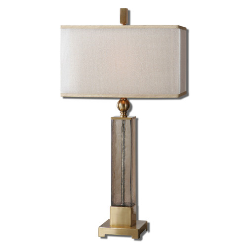 Uttermost Caecilia Amber Glass Table Lamp by Carolyn Kinder