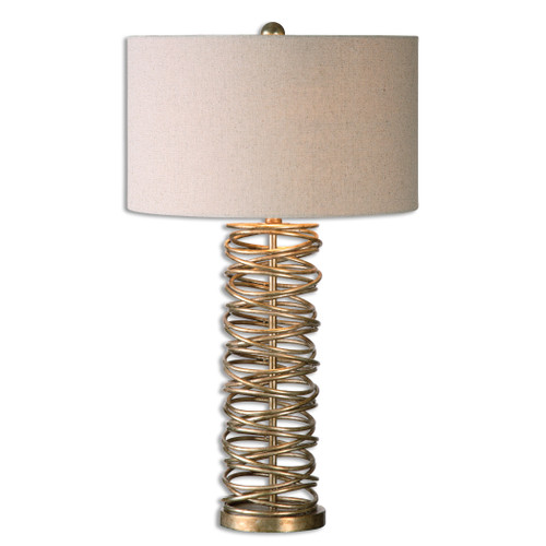 Uttermost Amarey Metal Ring Table Lamp by Jim Parsons