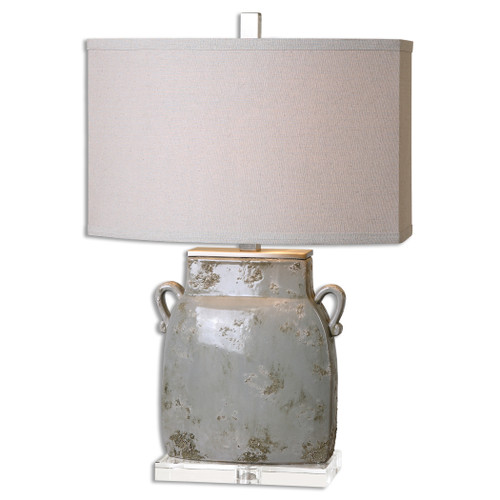 Uttermost Melizzano Ivory-Gray Table Lamp by Jim Parsons