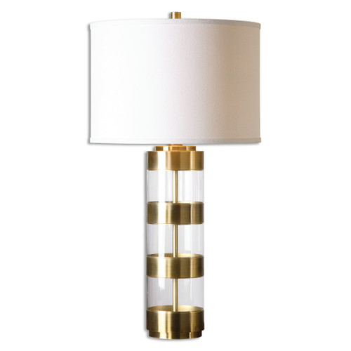 Uttermost Angora Brushed Brass Table Lamp by David Frisch