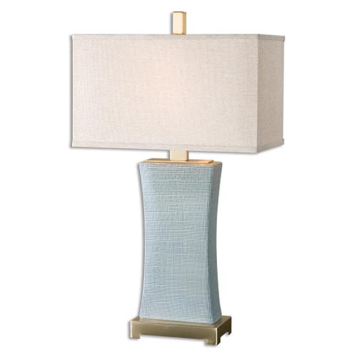 Uttermost Cantarana Blue Gray Table Lamp by Carolyn Kinder