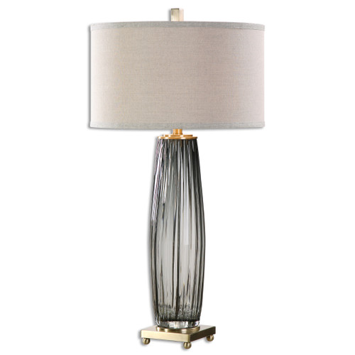 Uttermost Vilminore Gray Glass Table Lamp by David Frisch