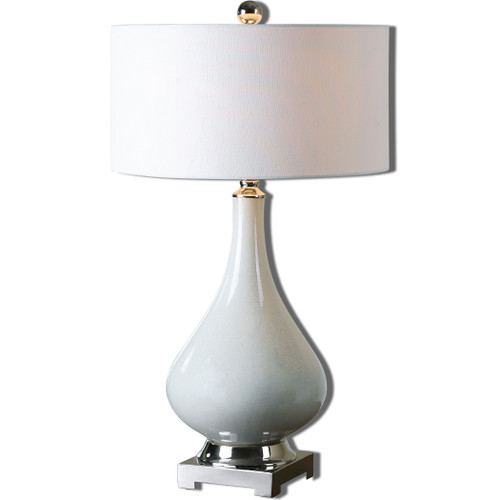Uttermost Helton White Table Lamp by Billy Moon