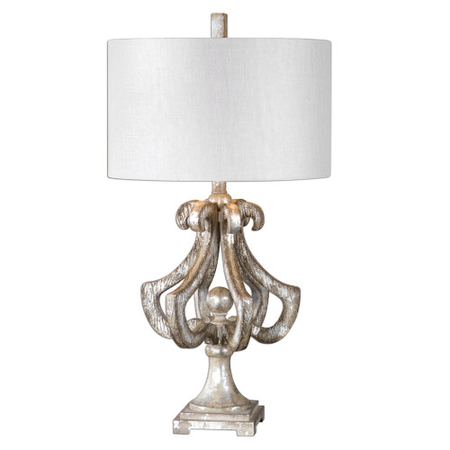 Uttermost Vinadio Distressed Silver Table Lamp by Carolyn Kinder