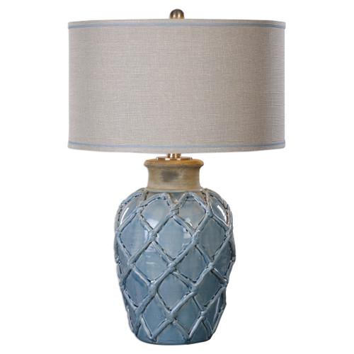 Uttermost Parterre Pale Blue Table Lamp by Jim Parsons