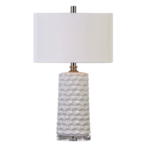 Uttermost Sesia White Honeycomb Table Lamp by Billy Moon