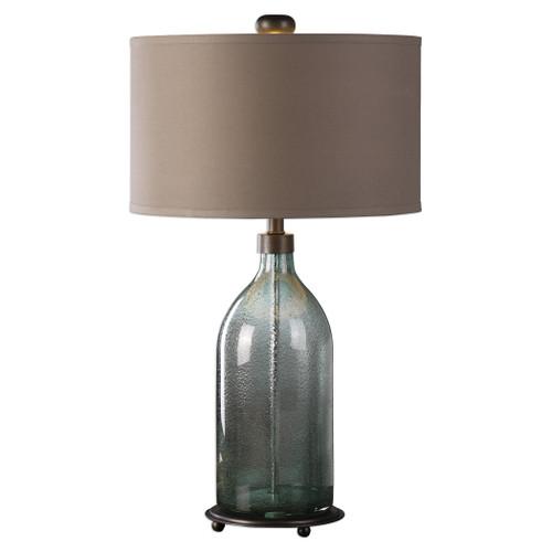 Uttermost Massana Gray Glass Table Lamp by Matthew Williams