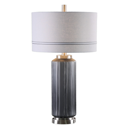 Uttermost Akila Charcoal Glass Table Lamp by Billy Moon