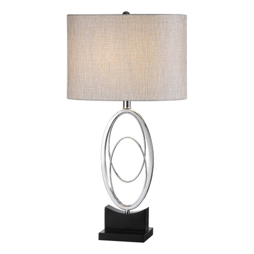 Uttermost Savant Polished Nickel Table Lamp by David Frisch