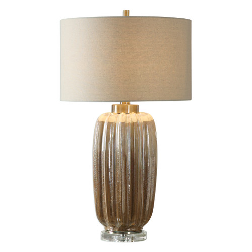Uttermost Gistova Gold Table Lamp by Jim Parsons