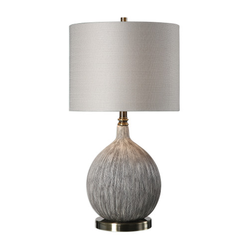 Uttermost Hedera Textured Ivory Table Lamp by David Frisch